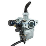 19mm Zinc Carburetor w/Hand Choke Lever for 50-110cc  4-stroke ATVs, Dirt Bikes & Go Karts