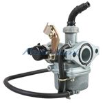 19mm Zink / Aluminum Carburetor w/Cable Choke for 50cc 70cc 90cc 110cc  4-stroke ATVs & Go Karts