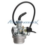 22mm Carburetor w/Hand Choke Lever for 125cc  4-stroke ATVs, Dirt Bikes & Go Karts