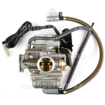 24mm Carburetor w/Electric Choke for 150cc Mopeds / Scooters, ATVs, Go Karts