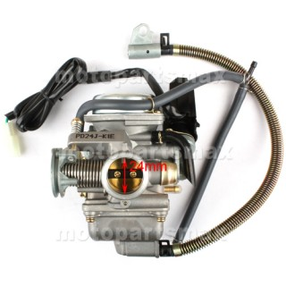 24mm carburetor w electric choke for gy6 150cc moped. Black Bedroom Furniture Sets. Home Design Ideas