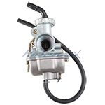 16mm Carburetor w/Hand Choke Lever for 50cc-70cc 4-stroke ATVs & Dirt Bikes