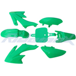 Plastic Fender Body Kit for HONDA CRF50 XR50 Style 50cc-125cc Pit Bikes, Dirt Bikes (Green)