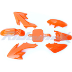 Plastic Fender Body Set Kit HONDA CRF50 XR50 Style 50cc-125cc Pit Bikes, Dirt Bikes (Orange)