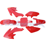Plastic Body Kit HONDA CRF50, XR50 Style 50-125cc Pit Bikes, Dirt Bikes (Red)