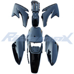 Black Plastic Body Fender Set for HONDA CRF70 Style Dirt Pit Bikes