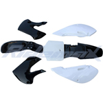 Black Plastic Body Shell for KAWASAKI KLX/DRZ 110, KX65 Style Pit Bikes