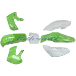 Green Plastic Body Shell for KAWASAKI KLX/DRZ 110, KX65 Style Pit Bikes