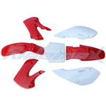 Plastic Body Kit KAWASAKI KLX/DRZ 110, KX65 Pit Bike / Dirt Bike (Red)