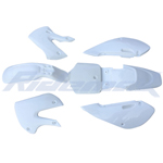 White Plastic Body Shell for KAWASAKI KLX/DRZ 110, KX65 Style Pit Bikes