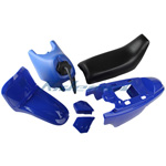 New Blue Plastic Fender Body Seat Tank Kit Yamaha PW50 PW 50