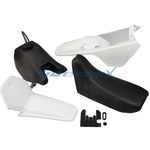 White Plastic Fender Body Seat Tank Kit Set Yamaha PW80 PW 80