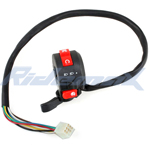 3-Function Left Switch Assembly with Choke Lever for 50cc-125cc ATVs
