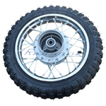 10'' Rear Wheel Rim Tire Assembly for 50cc 70cc 110cc Dirt Bikes