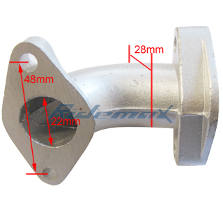 Intake pipe for 125cc Kick start & Electric start Engine