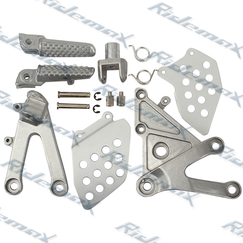 Front Foot Pegs Footrest & Bracket For Honda CBR600RR 2003 2004 2005 2006
