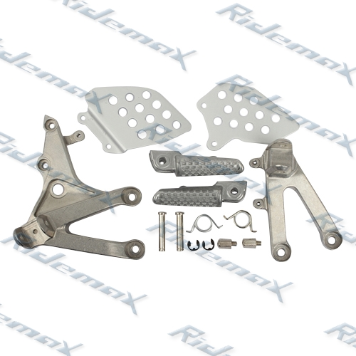 Front Foot Pegs Footrest & Bracket For Honda CBR600RR 2007 2008 2009 2010 2011