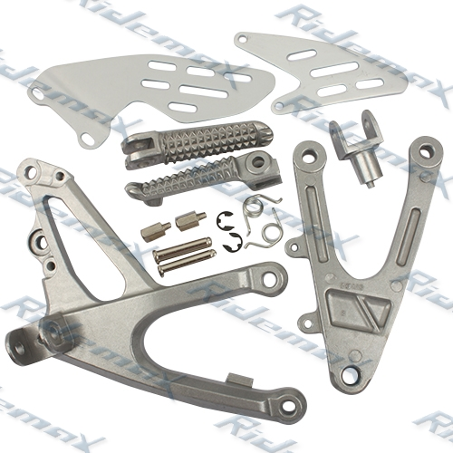 Front Foot Pegs Footrest & Bracket Yamaha YZF R1 2007 2008