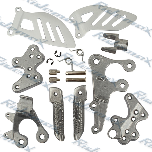 Front Foot Pegs Footrest & Bracket Suzuki GSXR1000 2009 2010 K9