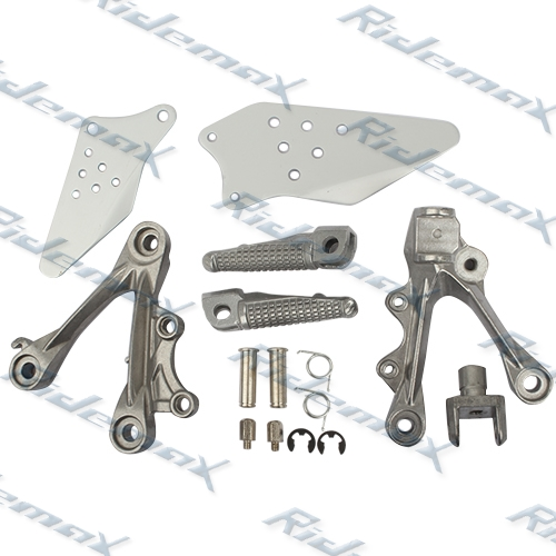 Front Foot Pegs Footrest & Bracket Kawasaki ZX6R 2009 2010 2011