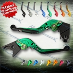 Folding Extendable CNC Brake Clutch Levers Fit For Kawasaki ZZR600 2005-2007,  ZZR600	2005-2009,  ZX6R / ZX636R / ZX6RR 2000-200