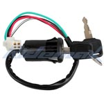4-Wire 4-Pin Ignition Key Switch for ATVs and Dirt Bikes