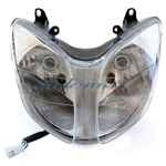 New Headlight Assembly for 150cc & 250cc Scooters 4 Pins plug
