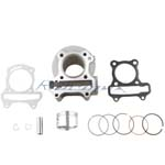 Cylinder Body Piston Gasket Ring Kit Assembly for GY6 50cc Engine & 80cc Modified Engine
