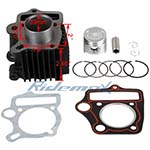 Cylinder Body Piston Gasket Ring  Assembly for 50cc Horizontal ATVs and Dirt Bikes