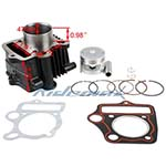 47mm Cylinder Body Piston Pin Ring Gasket Set Assembly for 70cc ATVs and Dirt Bikes