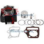 52mm Cylinder Body Piston Pin Ring Gasket Assembly for 110cc ATVs & Dirt Bikes and Go Karts