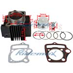 X-PRO<sup>®</sup> Cylinder Body Piston Ring Gasket Set Assembly for 125cc ATVs, Dirt Bike & Go Karts