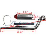 X-PRO<sup>®</sup> Performance Exhaust Assembly for 70-125cc Dirt Bikes,free shipping!