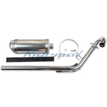 Performance Exhaust Assembly for 70-125cc Dirt Bikes