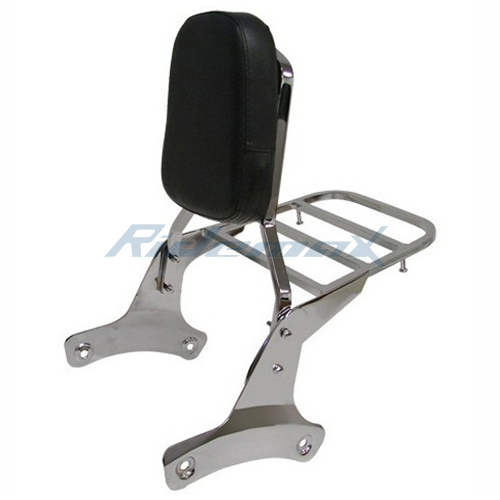 CHROME BACKREST SISSY BAR W/LUGGAGE RACK for Honda Shadow VT400 VT750 VT 750 NEW