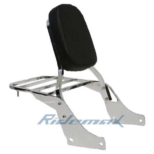 Backrest Sissy Bar Set W/ Luggage Rack for Honda Shadow SABRE 1100 ACE VT1100