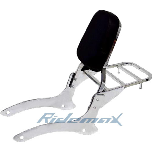 BACKREST SISSY BAR W/LUGGAGE RACK For 00-11 Yamaha V-Star XVS 1100 Classic Drag