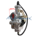 27mm Carburetor w/Cable Choke for 200cc ATVs, Dirt Bikes & Go Karts
