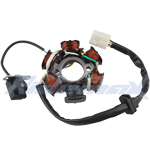 X-PRO<sup>®</sup> 6-Coil Magneto Stator for 50cc 70cc 90cc 110cc 125cc ATVs & Go Karts (4-Pin),free shipping!