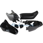 Black Plastic Fender Body Seat Tank Kit Yamaha PW50 PW 50