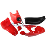 X-PRO<sup>®</sup> Red Plastic Fender Body Seat Gas Tank Kit Yamaha PW50 PW 50 Dirt Bike