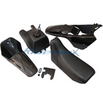 Black Plastic Fender Body Seat Tank Kit Yamaha PW80 PW 80