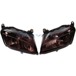 Smoke Headlight Head Light for 2007 2008 2009 Honda CBR600RR CBR 600 RR,free shipping!