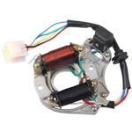 2-Coil Half-Wave Magneto Stator for 50cc-125cc Electric Start ATVs & Dirt Bikes & Go Karts