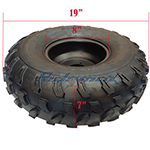 """19x7-8 8"""" Left Front Wheel Rim Tire Assembly for 125cc-200cc ATVs 19-7-8"""