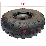"""19x7-8 8"""" Right Front Wheel Rim Tire Assembly for 125cc-200cc ATVs 19-7-8"""